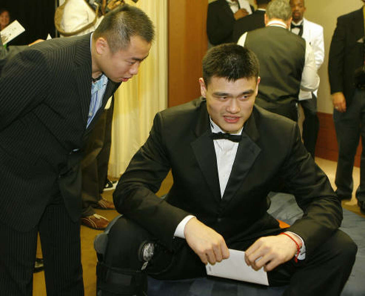 Yao Ming is letting his inner Elvis show.