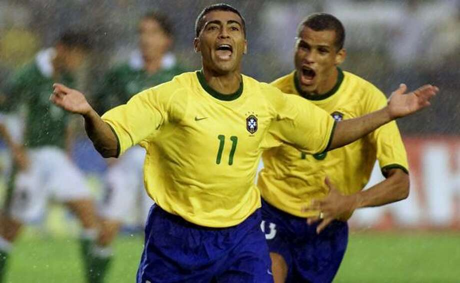 Brazil's Romario, left, says he's close to scoring his 1,000th career goal, and Brazilians are preparing the celebrations, although the claim is being met with some skepticism. Photo: ERALDO PERES, ASSOCIATED PRESS