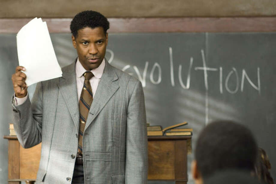 In this image released by The Weinstein Company, actor  Denzel Washington is shown in a scene from The Great Debaters. Photo: David Lee, Associated Press