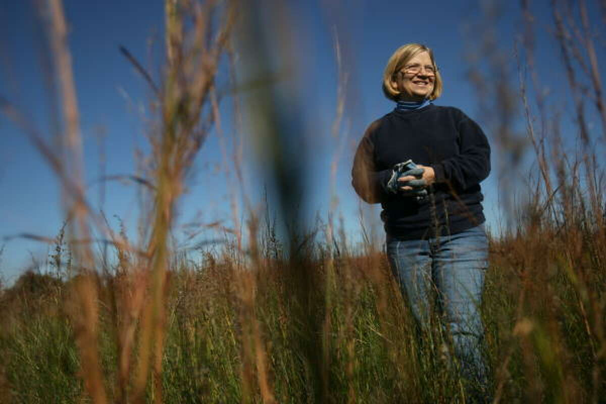 Marybeth Arnold is one of several volunteers at the Texas City Prairie Preserve who are trying to restore the coastal prairie. Arnold exemplifies the spirit of giving by giving back to the planet.