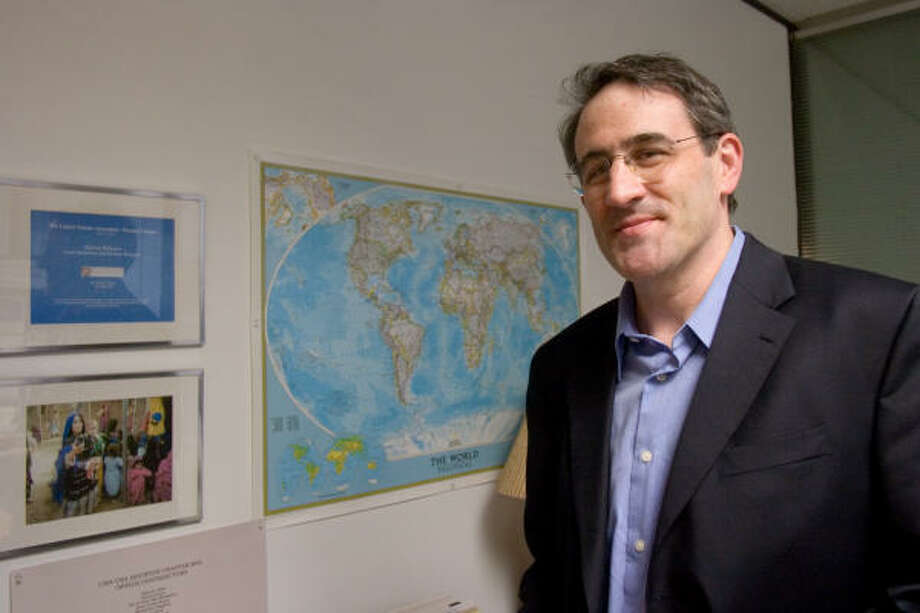 Houston native Lloyd Jacobson returned to the city after living 11 years in Washington, D.C., to serve as executive director of the United Nations Association's Houston chapter. Photo: R. Clayton McKee, For The Chronicle