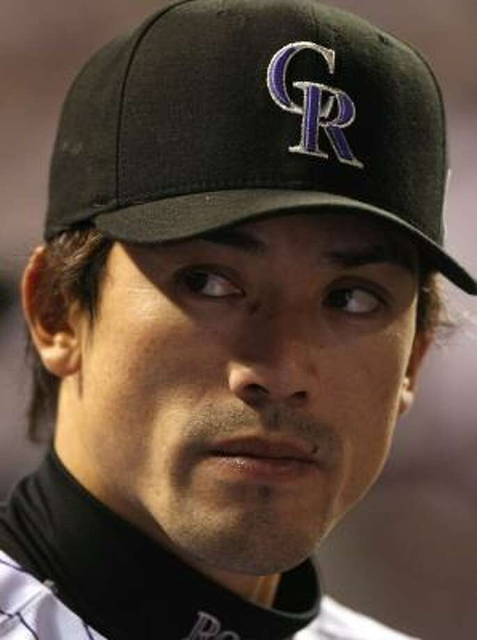 Matsui, 32, has a .272 career batting average over four injury-plagued seasons in the majors since leaving the Japanese League, where he starred from 1995-2003. He spent his first 2½  seasons in the majors with the New York Mets before being traded to the Colorado Rockies on June 9, 2006. Photo: Jed Jacobsohn, Getty Images