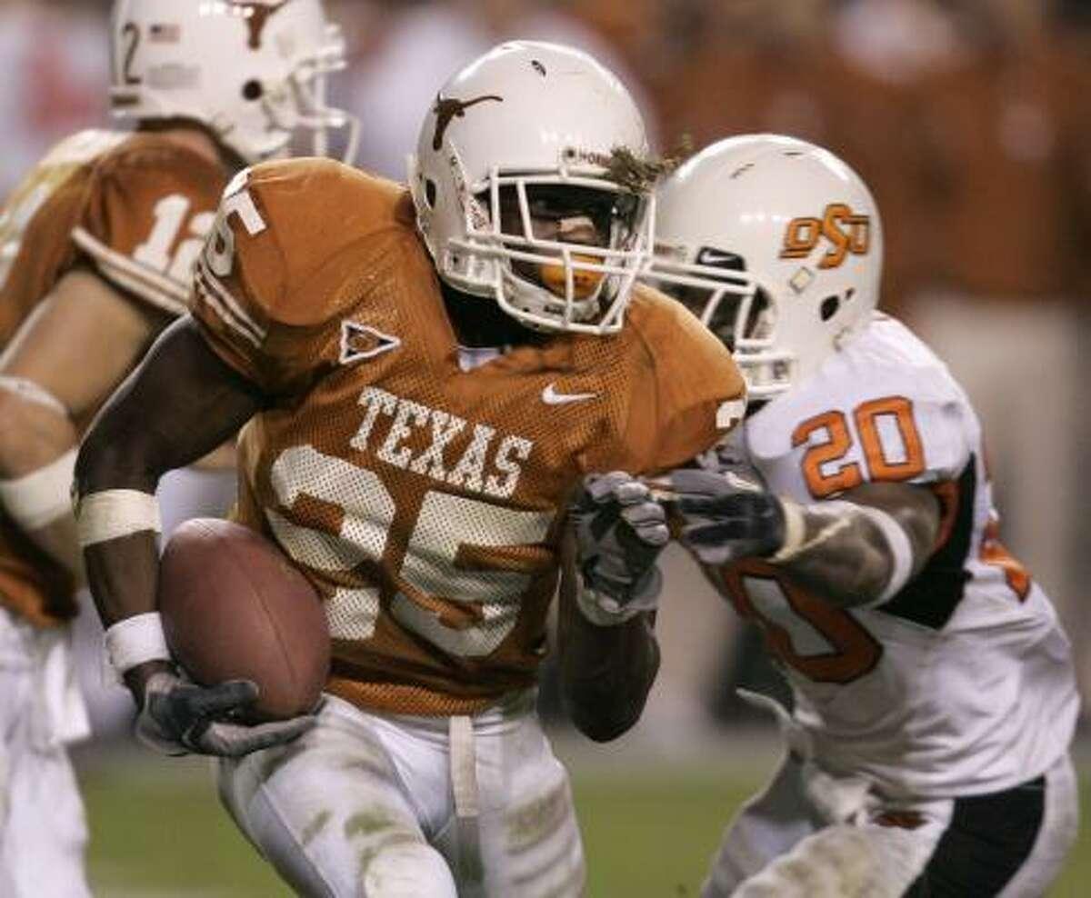 Texas running back Jamaal Charles