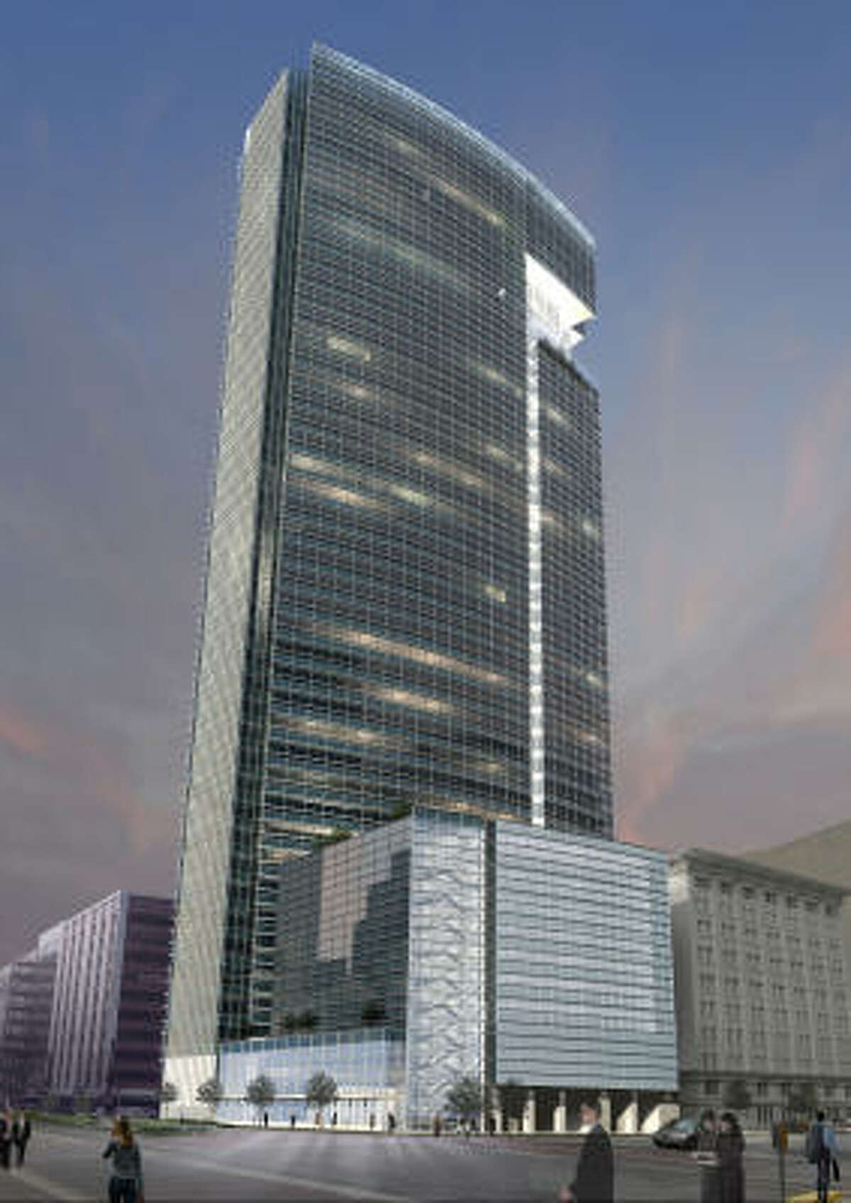 MainPlace will be a 46-story, 1 million-square-foot office building at 811 Main St. between Walker and Rusk, the company said Tuesday.