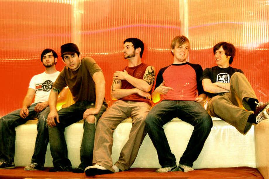 Paris Green is, from left, Josh Broussard, Jason Self, Matt Patin, Matt Gosney and Justin Pena. Photo: Patty Hatton