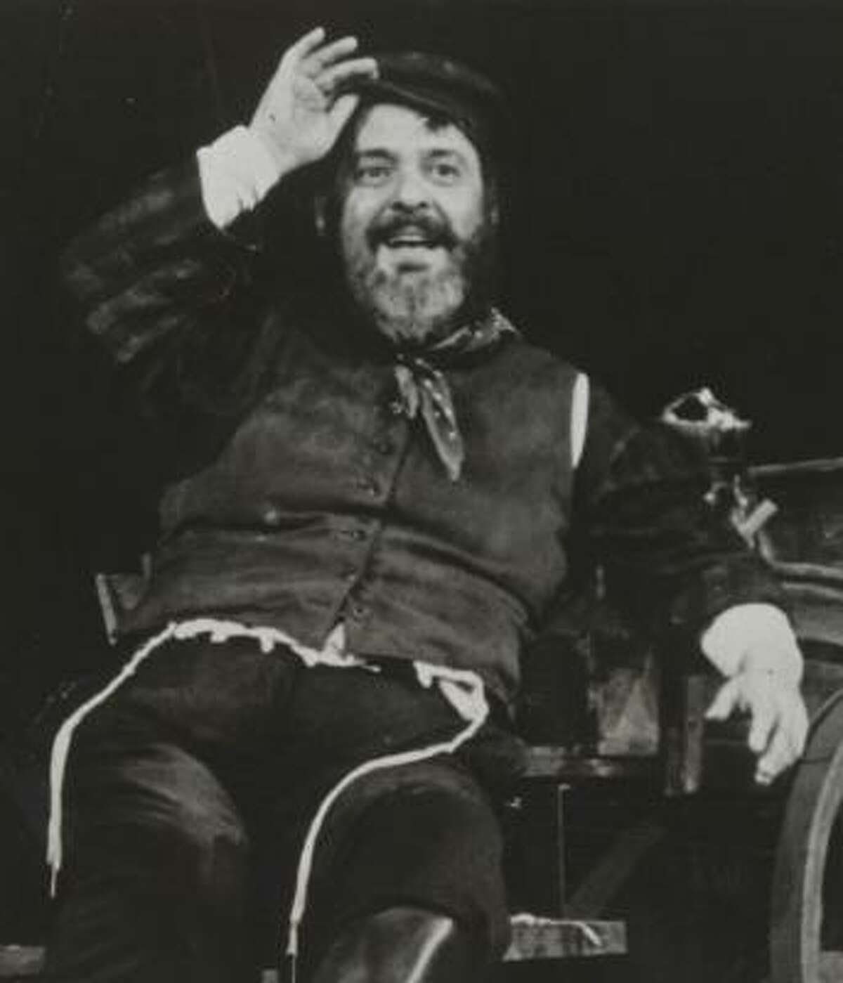 Zero Mostel as Tevye in a scene from Fiddler on the Roof, circa 1964.