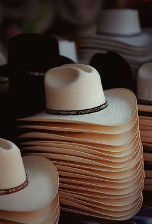 Hats are just one of the items for sale at El Mercado. Photo: Smiley N. Pool, Chronicle