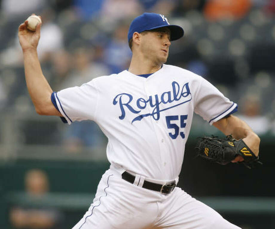 High-priced free agent acquisition Gil Meche is paying dividends for the Royals, including a strong performance Thursday against the Angels. Photo: Ed Zurga, AP