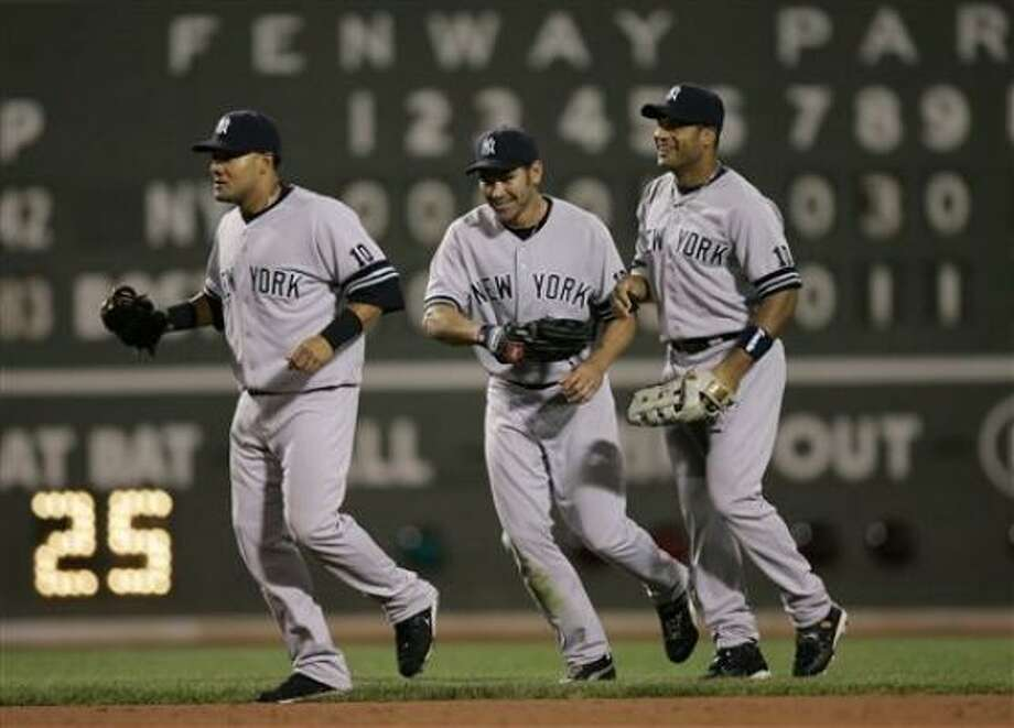The Yankees are liking their chances. Boston's magic number to clinch at least a tie, meanwhile, is nine. Photo: Elise Amendola, AP