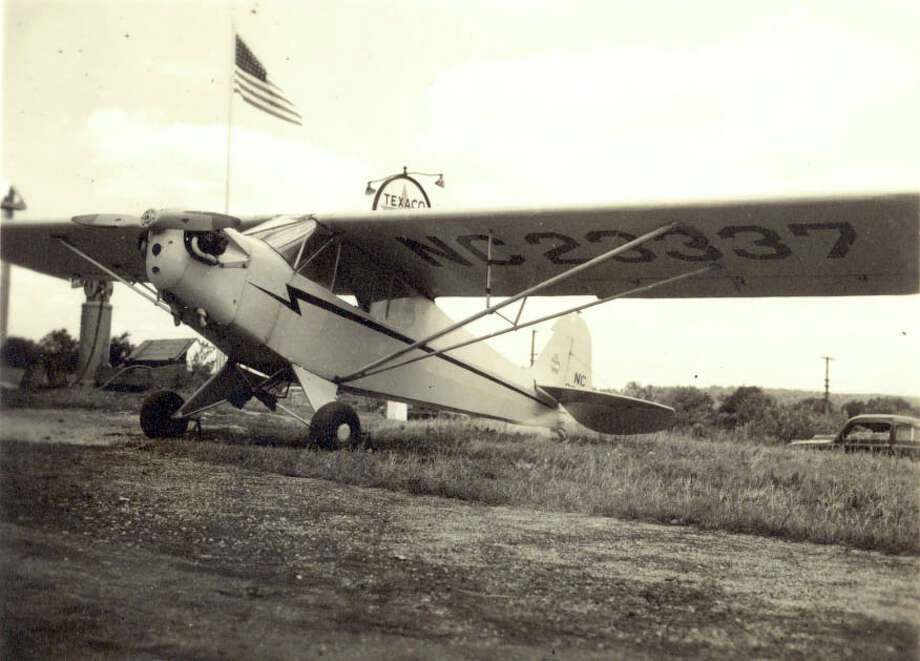 Eleanor Feeley Lawry flew this Piper Cub at Danbury Airport. It's now on display at the Smithsonian Air and Space Museum. Photo: Contributed Photo