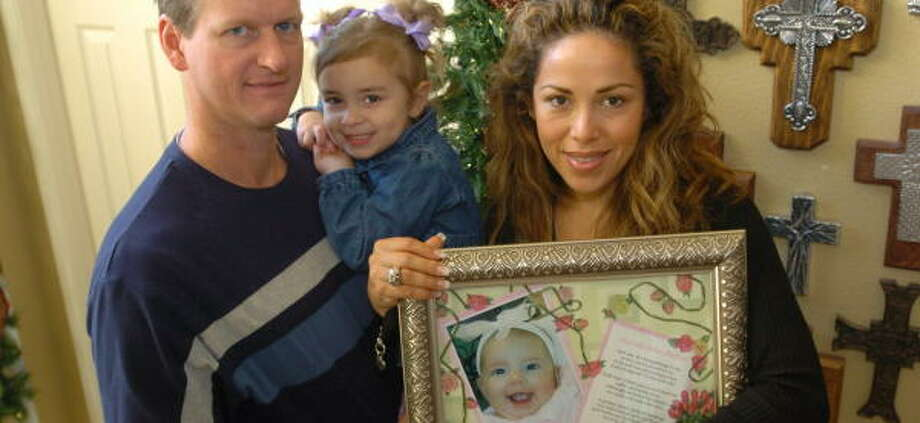 The Dale family is carrying on after the death of infant Vanessa with the establishment of Vanessa's Big Heart Foundation. Photo: Thomas Nguyen, For The Chronicle