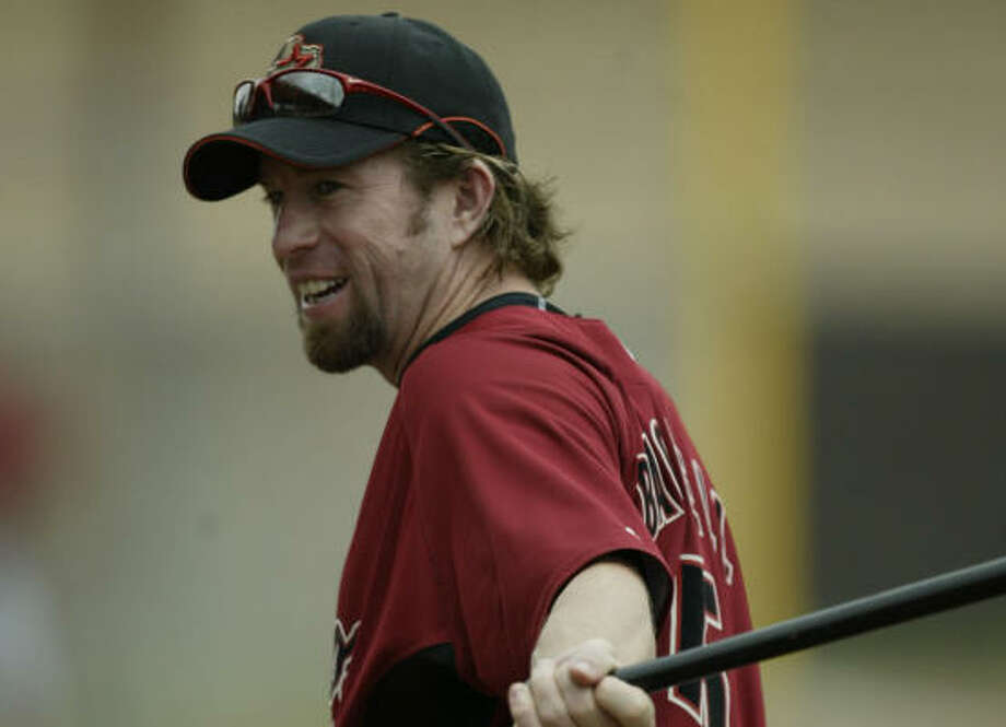 Former Astros first baseman Jeff Bagwell adjusts to his new coaching role at spring training. Photo: Billy Smith II, CHRONICLE