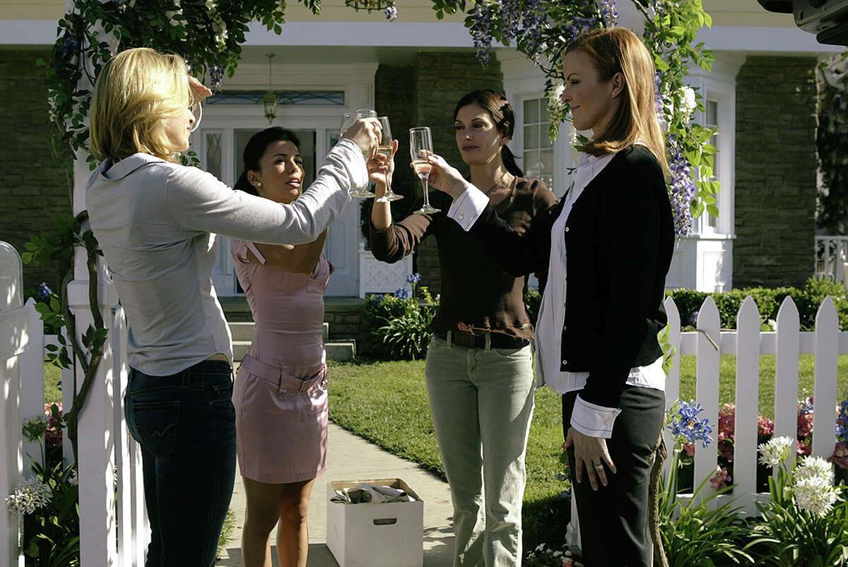 """Felicity Huffman (from left), Eva Longoria, Teri Hatcher and Marcia Cross have mixed feelings about the final season of """"Desperate Housewives."""" ABC"""