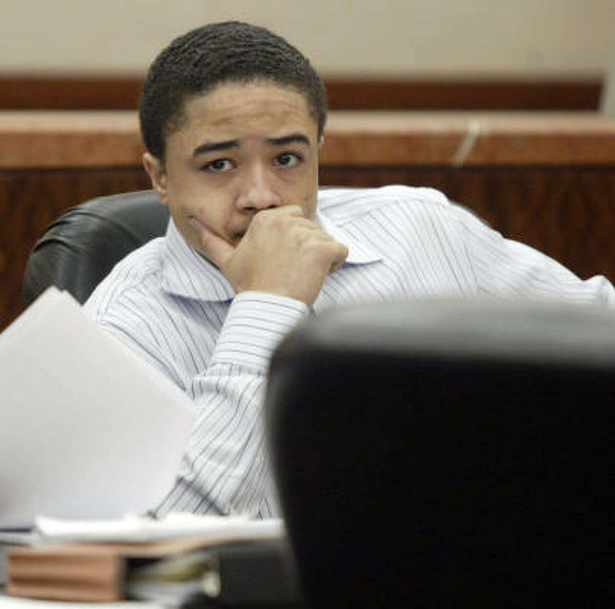 Dexter Johnson, then 19, shown at his 2007 capital murder trial.