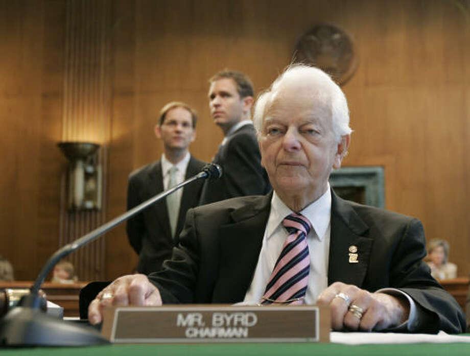 Sen. Robert Byrd, 89, is the longest-serving senator in history. Photo: Susan Walsh, AP