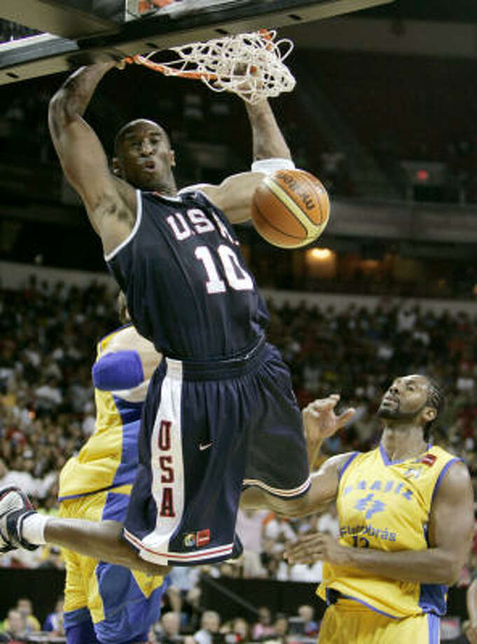 Kobe Bryant helped Team USA stay undefeated in group play with a 113-76 win over Brazil. Photo: Jae C. Hong, AP