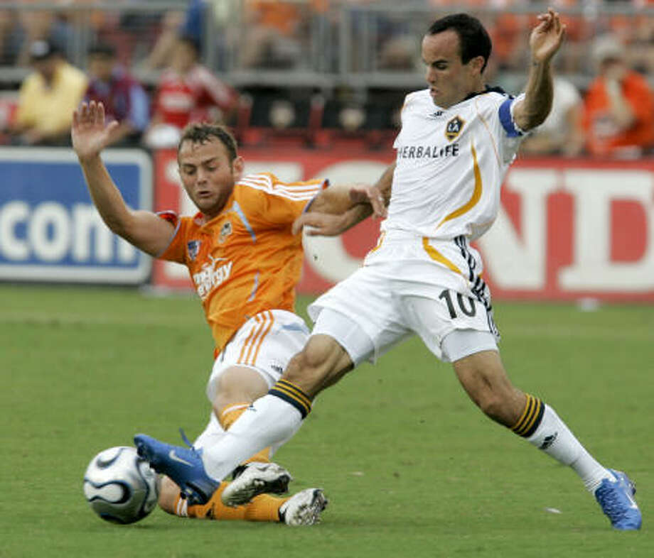 After a disappointing loss to the Los Angeles Galaxy, the Dynamo are still in the race for the Western Conference title. Photo: Pat Sullivan, AP