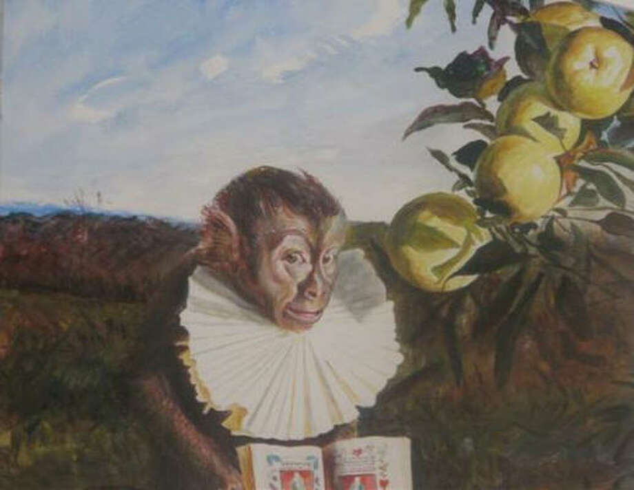 Monkey with small Book of Hoursby Kermit Oliver is part of the TSU exhibit Homecoming. Photo: Texas Southern University