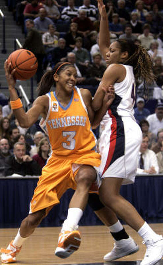Tennessee's Candace Parker scored 30 points and grabbed 12 rebounds, but it was her dunk that left a lasting impression. Photo: Bob Child, AP