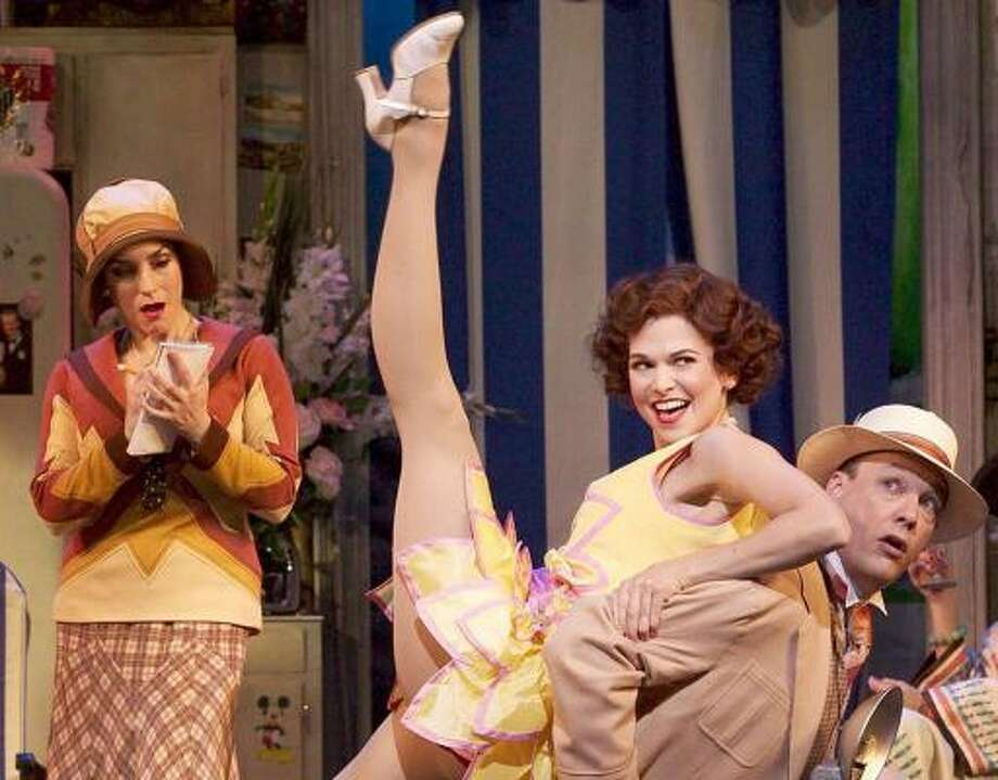 Angela Pupello, left, Sutton Foster and Patrick Wetzel share a scene in the Broadway production of The Drowsy Chaperone. The show debuts here in May. Photo: CRAIG SCHWARTZ, ASSOCIATED PRESS
