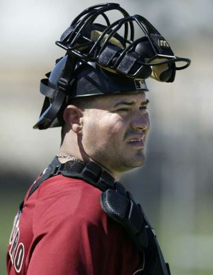 Catcher Humberto Quintero realizes he has a chance to establish himself with the Astros this season. Photo: Billy Smith II, CHRONICLE