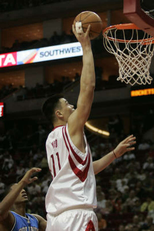 Yao Ming and Tracy McGrady are both expected to be back on the floor against the Kings. Photo: Margaret Bowles, For The Chronicle