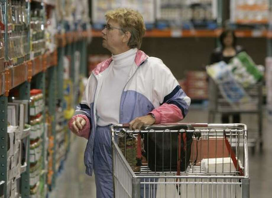 Jan Shutleff shops at a Costco in Cranberry, Pa. Prices on everything from cereal and milk to soft drinks and red meat are on the upswing. Photo: KEITH SRAKOCIC, ASSOCIATED PRESS