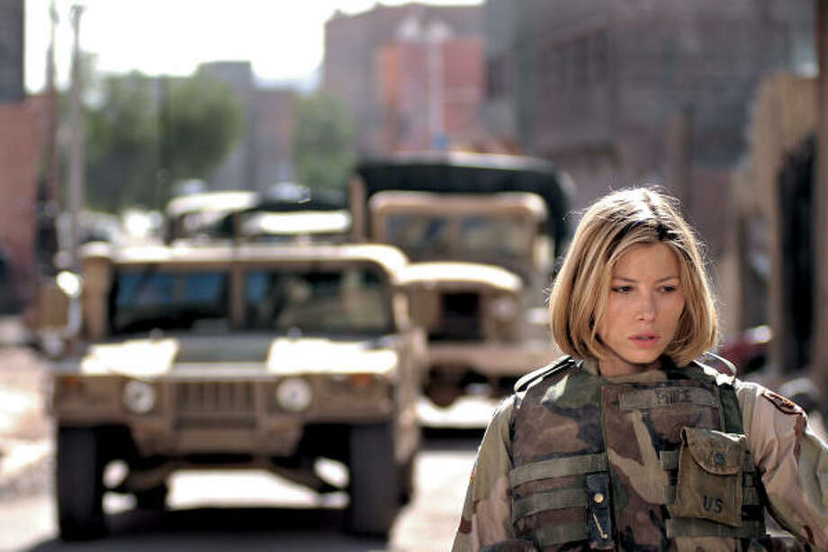 Jessica Biel stars in Home of the Brave, the story of three soldiers who return to the United States after an unexpectedly gruesome tour of duty in Iraq. Photo: Metro-Goldwyn-Mayer