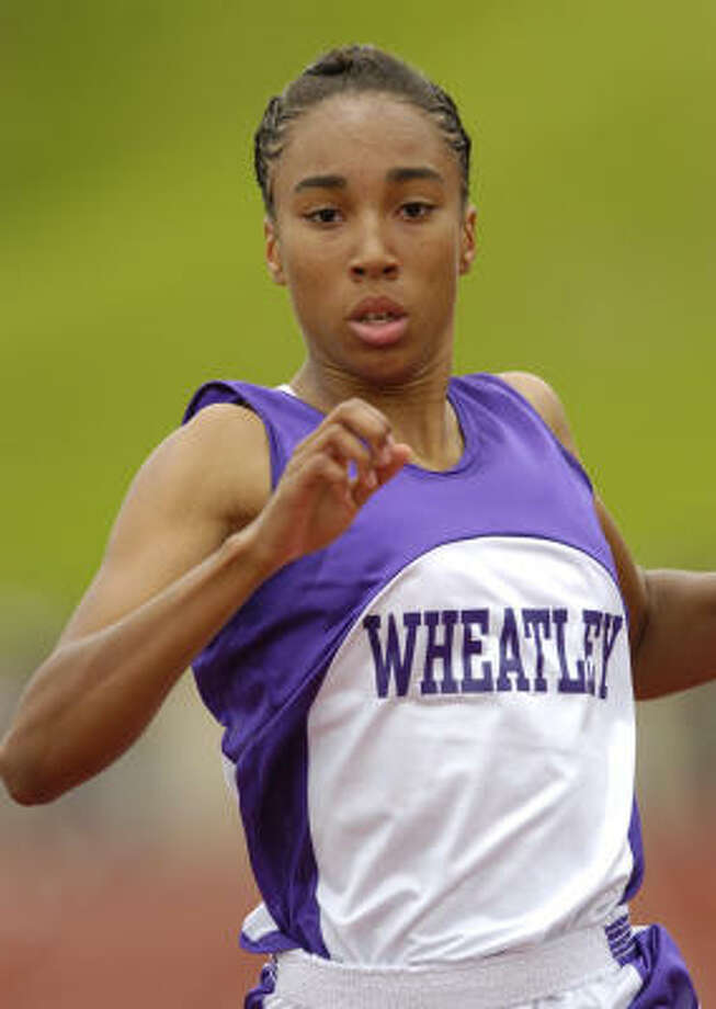 Wheatley's Dominique Duncan is just the latest in a long line of Duncans to star in track and field. Photo: Ronnie Montgomery, For The Chronicle