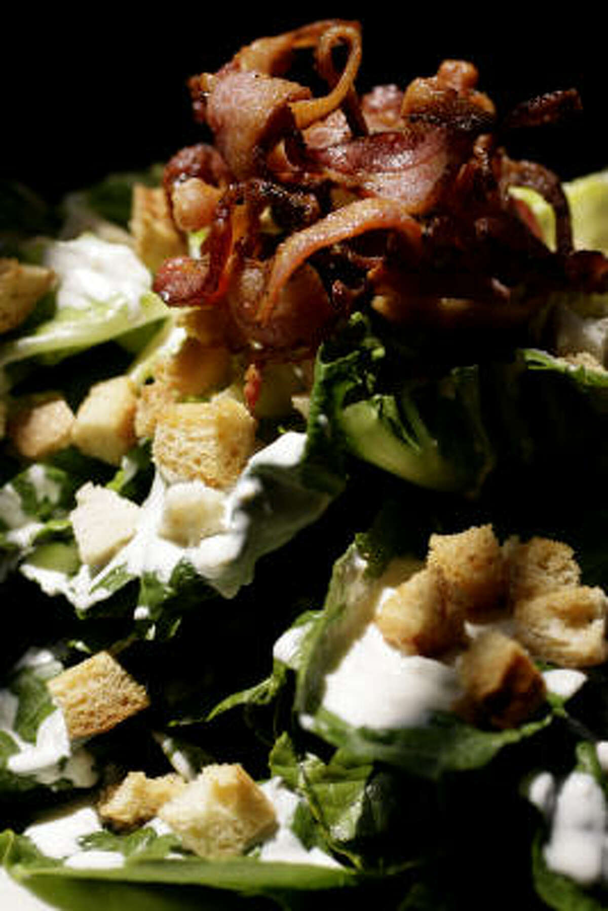 Hearts-of-romaine salad for two.