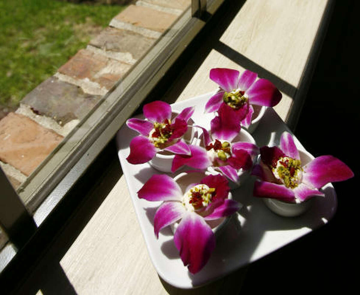 Orchid blossom appetizer.