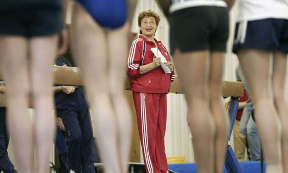 Martha Karolyi, center, has been training potential Olympic gymnasts at the Karolyi ranch in New Waverly since 2001. Photo: KEVIN FUJII, CHRONICLE