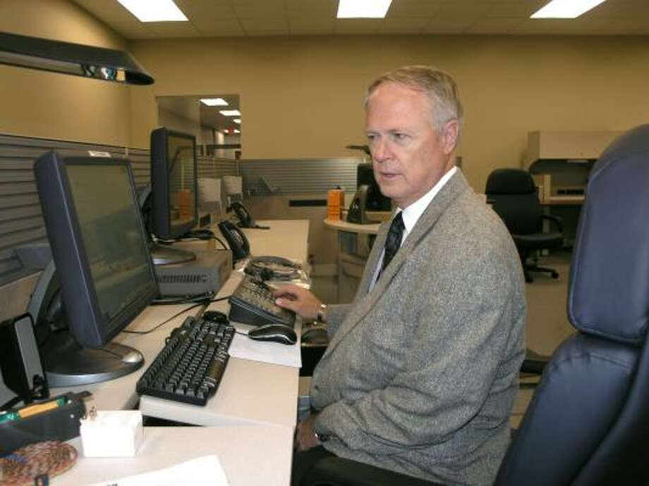 Police Chief Richard Reff says the centralized control center allows communication within the building. Photo:  Fannie Williams, For The Chronicle