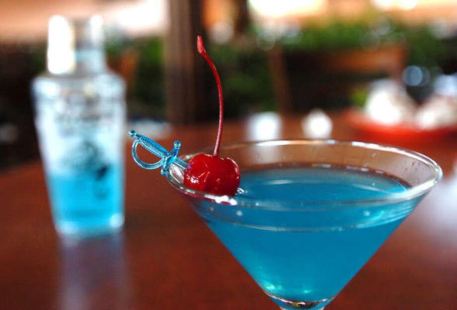 A Pico's Mex-Mex Mr. Blue Margarita. Photo: Chronicle File