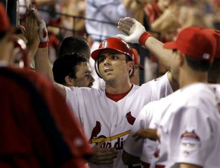 Rick Ankiel had a two-run homer for St. Louis in the seventh. Photo: Jeff Roberson, AP