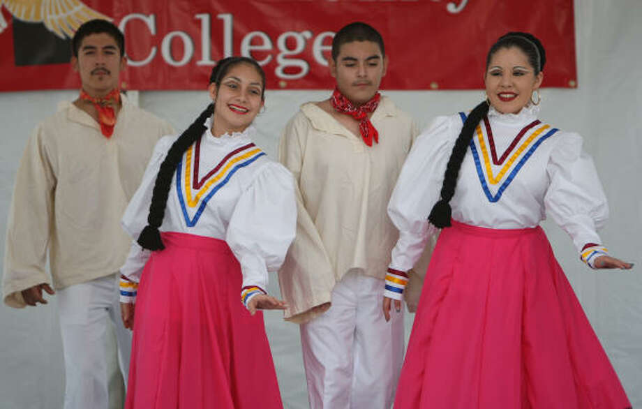 Dancers from Ballet Folklorico MECA, one of the many programs offered by the local cultural institution, performed recently during a Houston Community College event. MECA is celebrating its 30th birthday this year. Photo: Thomas Nguyen, For The Chronicle