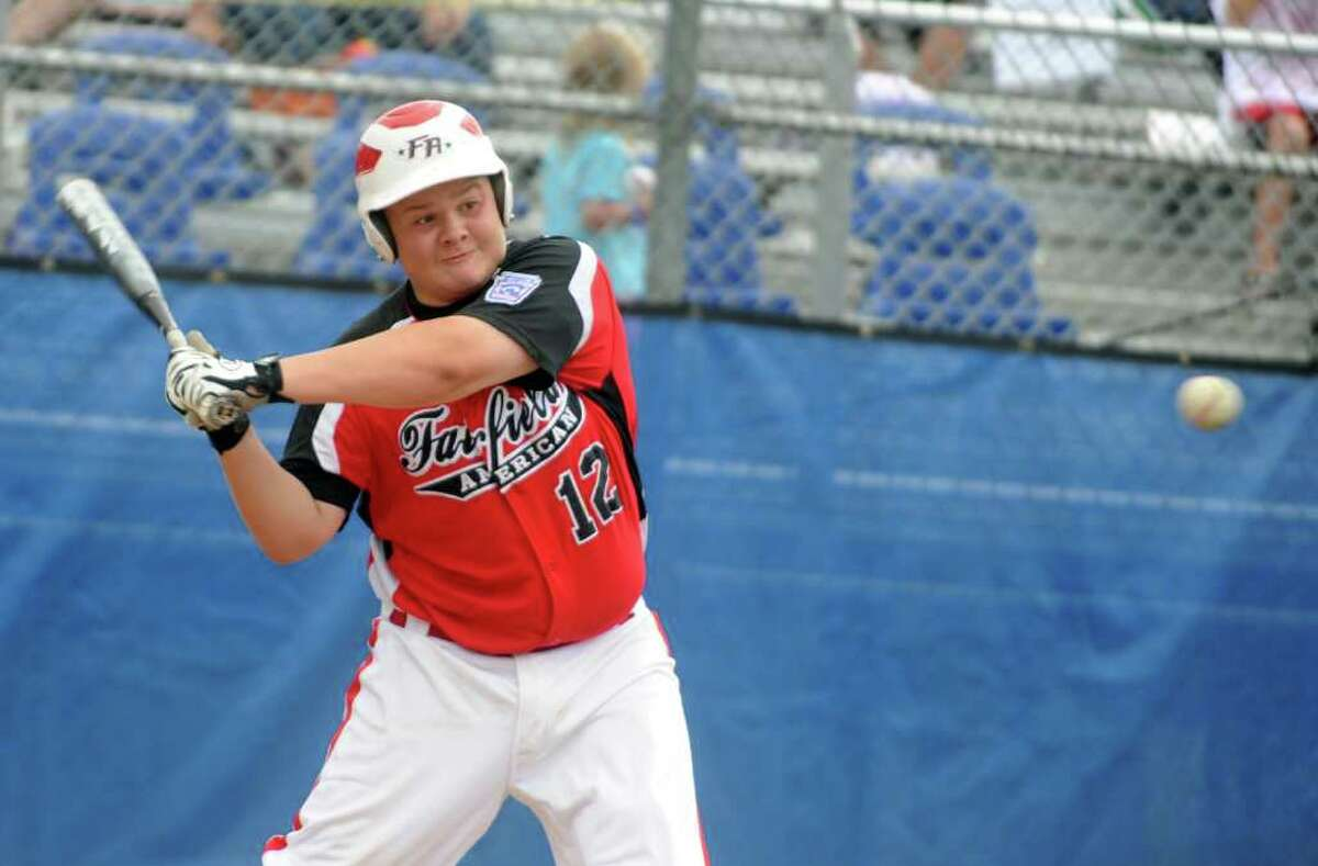 Fairfield American represents Connecticut Tuesday, August 9, 2011 during the Little League Baseball Eastern Regional game against Rhode Island at Breen Field in Bristol, Conn.