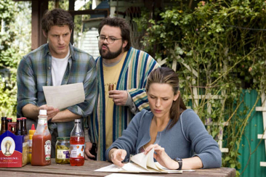 Sam Jaeger, left, Kevin Smith and Jennifer Garner star in Catch and Release. Photo: Columbia Pictures