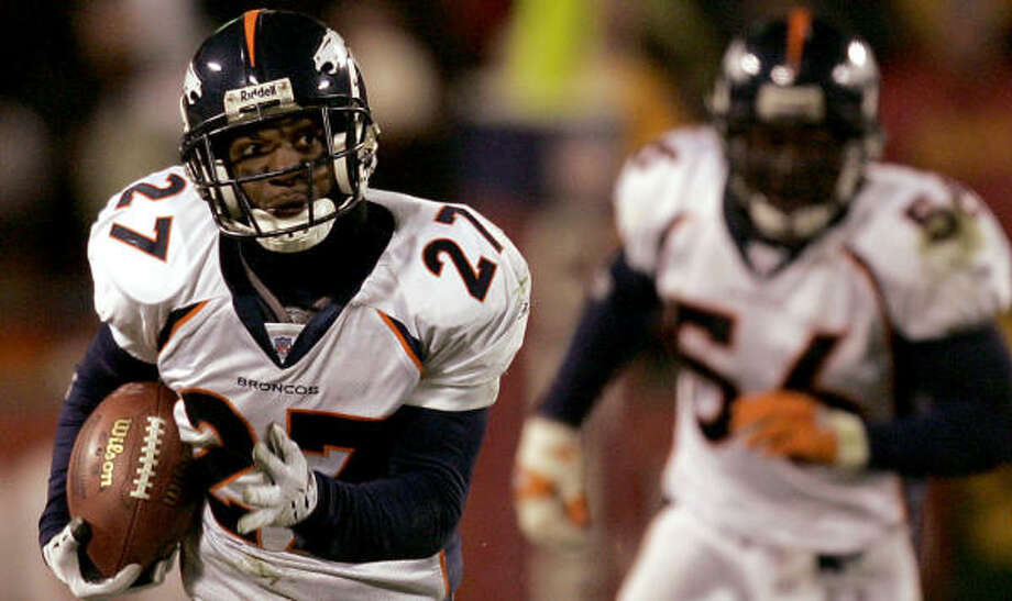 Broncos cornerback Darrent Williams was shot and killed outside a club early New Year's Day. Photo: CHARLIE RIEDEL, AP