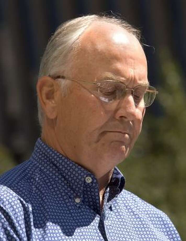 Idaho's Republican Senator Larry Craig, shown today at a news conference, pleaded guilty after his arrest during a sex sting in a Minneapolis airport men's room. Photo: Troy Maben, AP