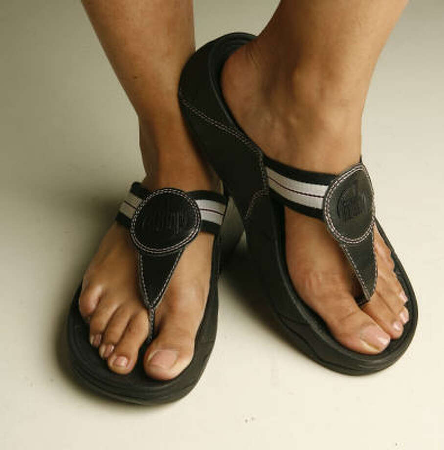 "FitFlops are made to give wearers a ""workout while you walk."" Photo: James Nielsen, Chronicle"