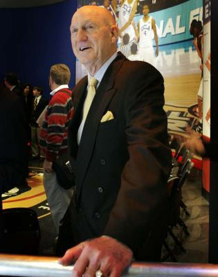 Former Missouri basketball coach Norm Stewart tours the College Basketball Experience. Photo: ORLIN WAGNER, ASSOCIATED PRESS