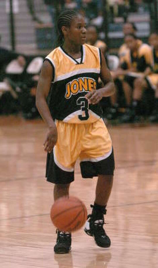 Jones point guard Jamie Whitfield will lead the Falcons against Kashmere on Friday at Barnett Sports Complex. Photo: Eddy Matchette, For The Chronicle