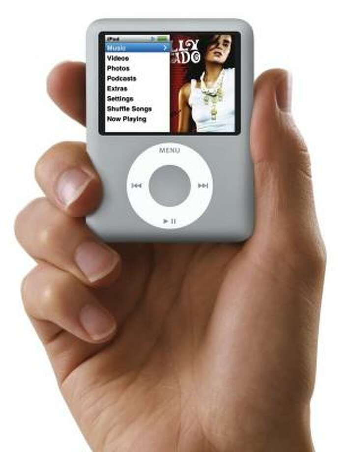 This photo provided by Apple shows the new Apple iPod Nano that was unveiled in San Francisco, Wednesday, Aug. 5, 2007. (AP Photo/Apple) Photo: APPLE