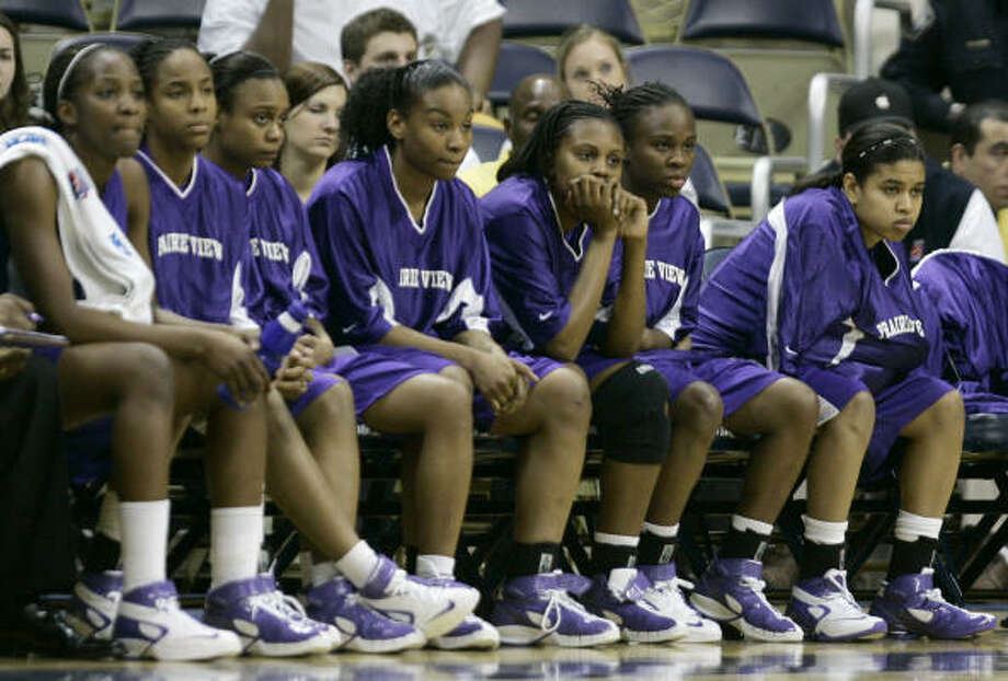 Sunday's first-round NCAA loss to North Carolina wasn't much fun to watch from the Prairie View A&M bench, but the SWAC tournament champs had a good time getting there. Photo: Carolyn Kaster, AP