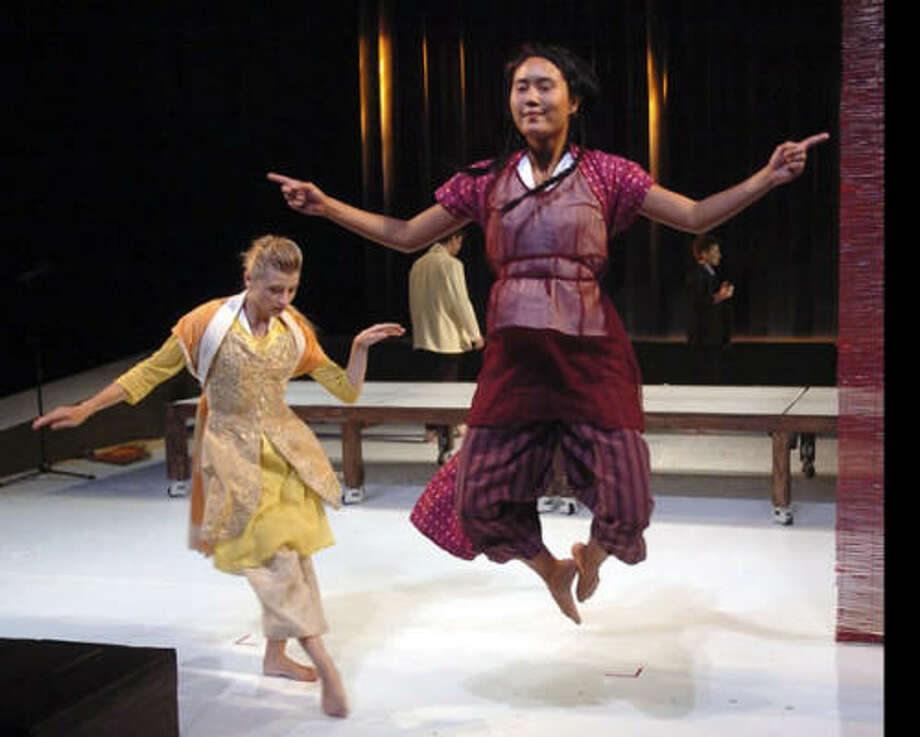 Big Dance Theater's The Other Here blends a host of materials. Photo: STAN BAROUH