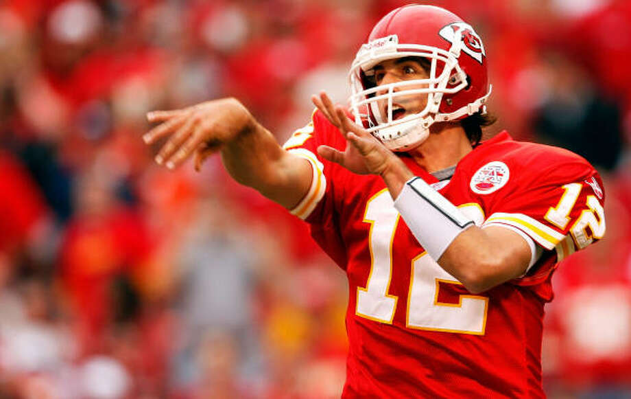Brodie Croyle replaced Kansas City starter Damon Huard in the third quarter Sunday against Denver. Photo: Jamie Squire, Getty Images