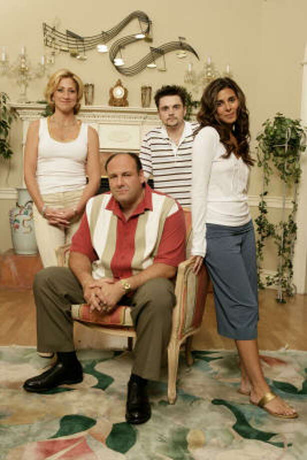 Edie Falco, from left, James Gandolfini, Robert Iler, Jamie-Lynn Sigler gave television audiences never-before-seen family drama. Photo: Craig Blankenhorn / HBO
