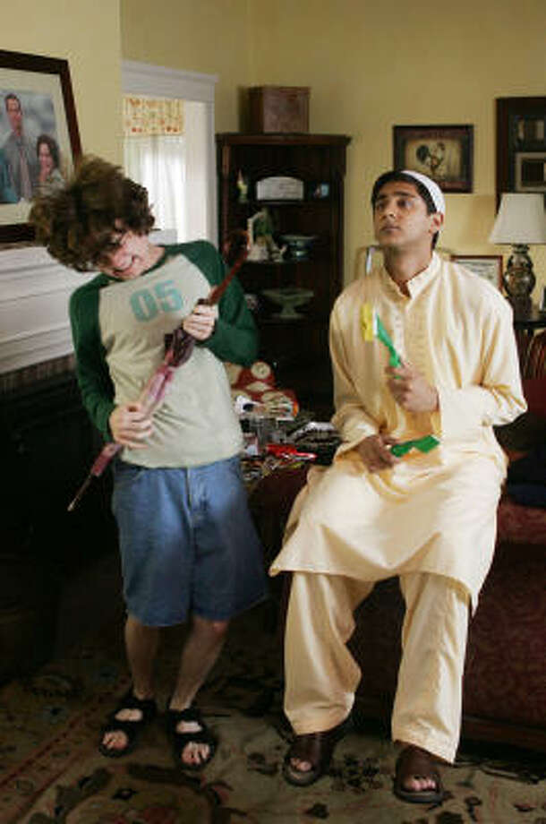 Dan Byrd, left, and Adhir Kalyan star in Aliens in America, joining the CW. Photo: Trae Patton, THE CW