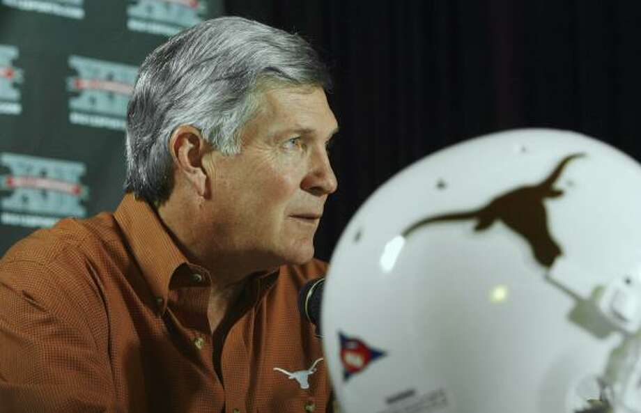Mack Brown's Longhorns have made news for the wrong reasons over the past few weeks. Photo: Harry Cabluck, AP